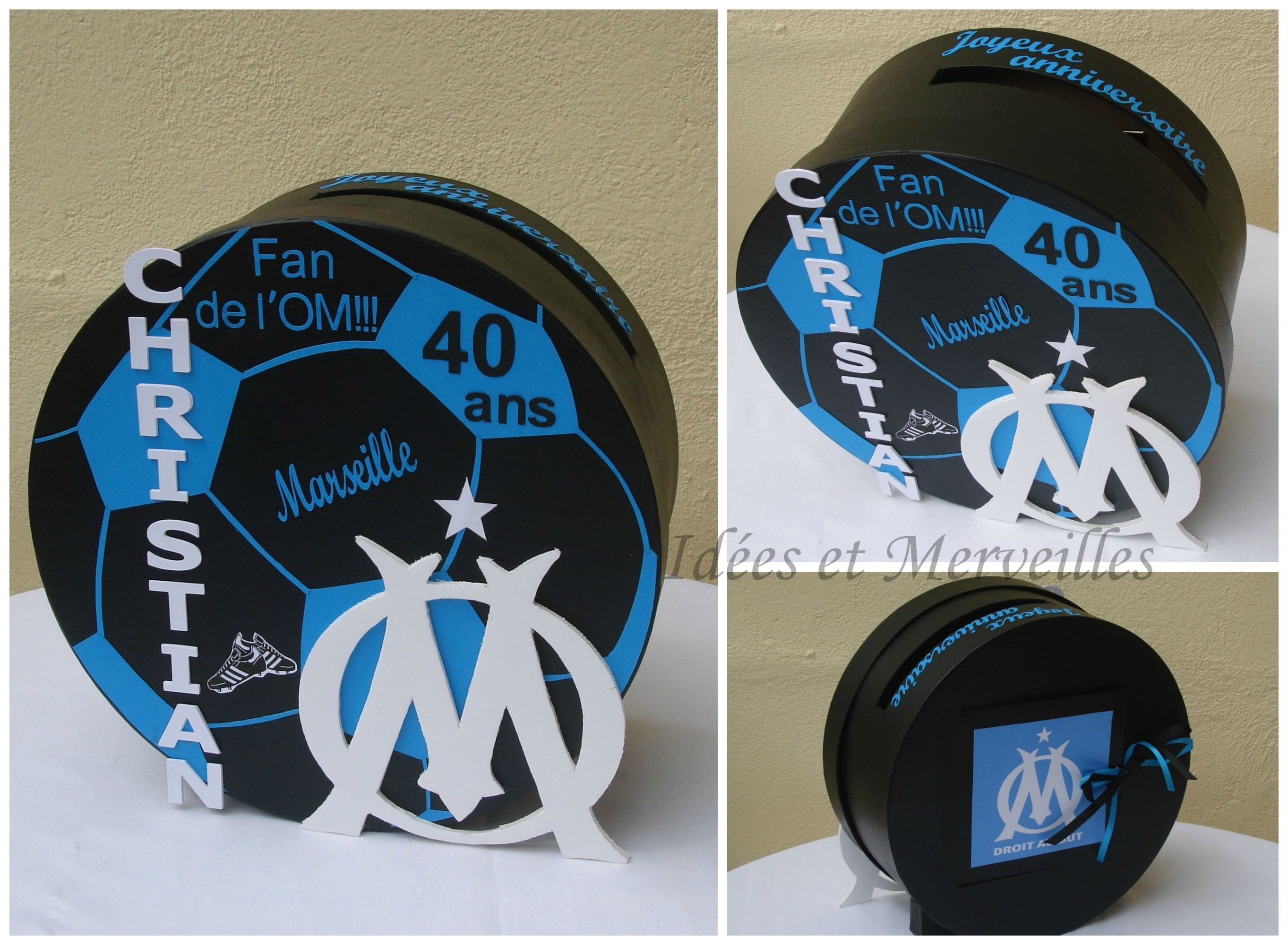Urne football ou rugby idees et merveilles for Idee deco 40 ans homme